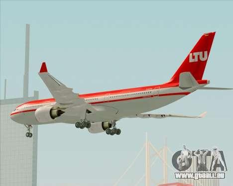 Airbus A330-200 LTU International für GTA San Andreas obere Ansicht