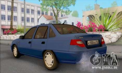 Daewoo Nexia pour GTA San Andreas laissé vue