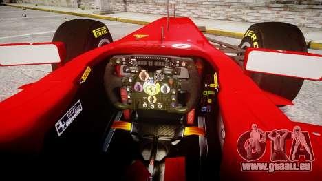 Ferrari 150 Italia Massa für GTA 4 Rückansicht