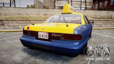 Vapid Stanier Taxi DCC pour GTA 4 Vue arrière de la gauche