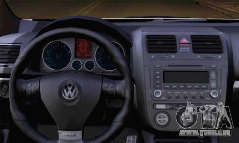 Volkswagen Golf 5 (ELM) pour GTA San Andreas sur la vue arrière gauche