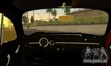 Volkswagen Fusca 1976 Rust Camber pour GTA San Andreas sur la vue arrière gauche