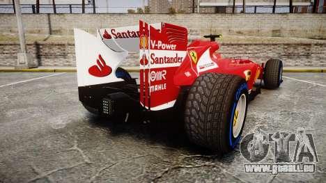 Ferrari F138 v2.0 [RIV] Massa TFW für GTA 4 hinten links Ansicht
