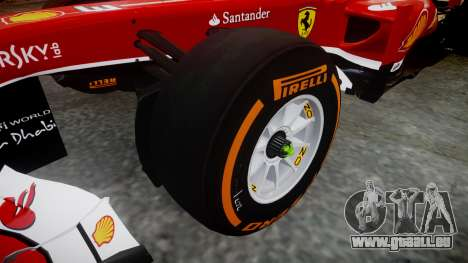 Ferrari F138 v2.0 [RIV] Massa THD pour GTA 4 Vue arrière