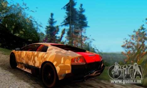 Lamborghini Murcielago Camo SV pour GTA San Andreas vue de droite
