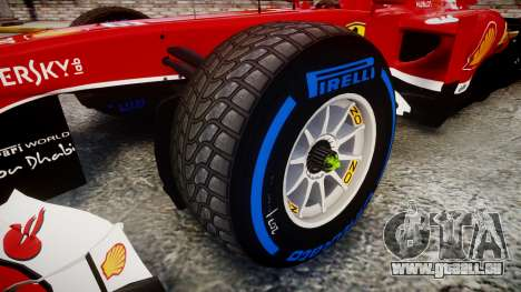 Ferrari F138 v2.0 [RIV] Massa TFW pour GTA 4 Vue arrière