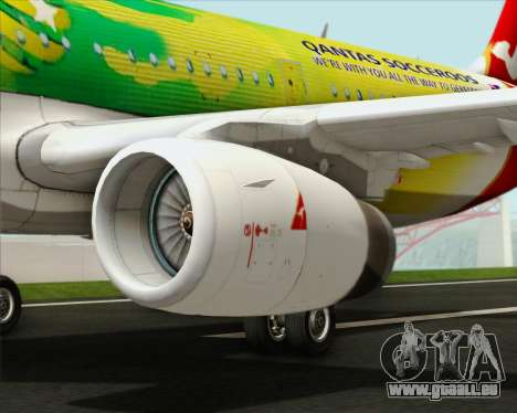 Airbus A321-200 Qantas (Socceroos Livery) pour GTA San Andreas moteur