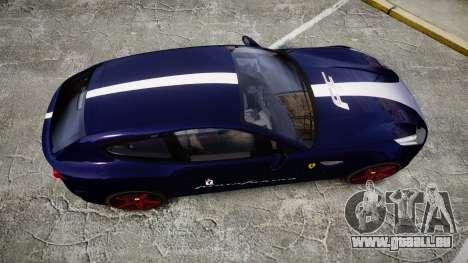 Ferrari FF 2012 Pininfarina Blue für GTA 4 rechte Ansicht
