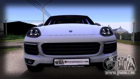 Porsche Cayenne 2015 pour GTA San Andreas sur la vue arrière gauche