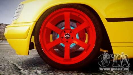 Mercedes-Benz W124 Brabus für GTA 4 Rückansicht