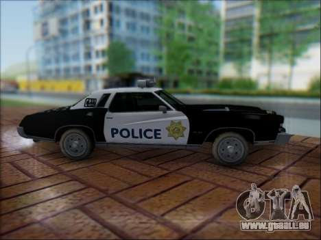 Chevrolet Monte Carlo 1973 Police pour GTA San Andreas vue intérieure