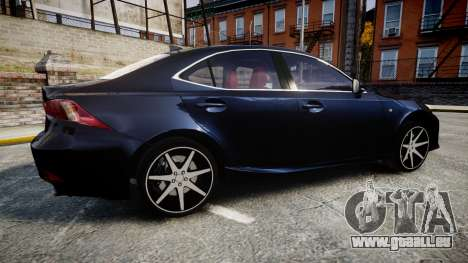 Lexus IS 350 F-Sport 2014 Rims2 für GTA 4 linke Ansicht