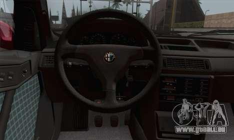 Alfa Romeo 155 Q4 1992 Stock für GTA San Andreas zurück linke Ansicht