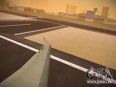 Bombardier CRJ-700 Continental Express für GTA San Andreas obere Ansicht