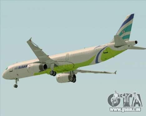 Airbus A321-200 Air Busan pour GTA San Andreas vue de dessus