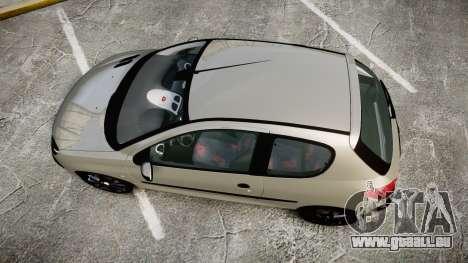 Peugeot 206 XS 1999 für GTA 4 rechte Ansicht