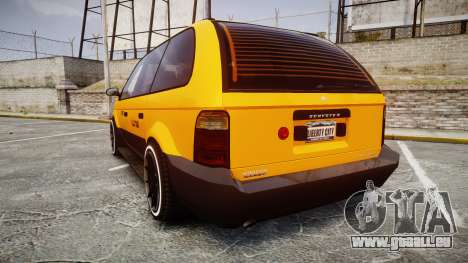 Schyster Cabby Taxi pour GTA 4 Vue arrière de la gauche