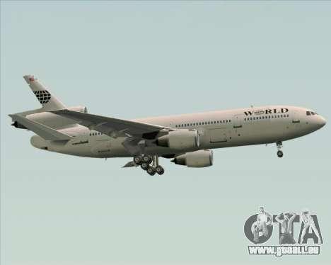 McDonnell Douglas DC-10-30 World Airways pour GTA San Andreas vue de côté