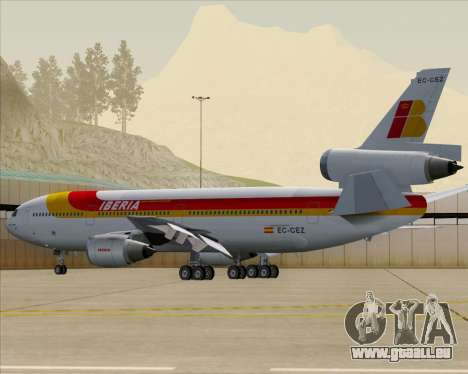 McDonnell Douglas DC-10-30 Iberia pour GTA San Andreas moteur