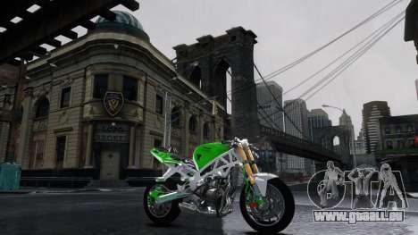 Kawasaki Ninja 636 Stunt für GTA 4 linke Ansicht