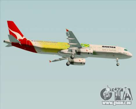 Airbus A321-200 Qantas (Socceroos Livery) pour GTA San Andreas vue de droite