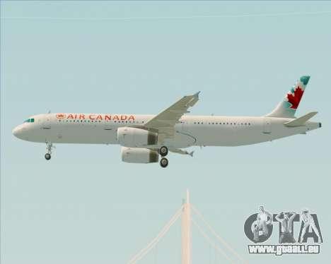 Airbus A321-200 Air Canada für GTA San Andreas Innenansicht