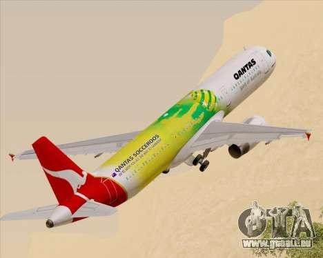 Airbus A321-200 Qantas (Socceroos Livery) pour GTA San Andreas