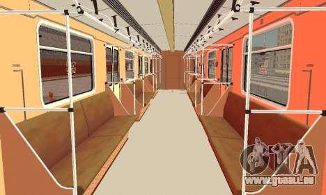 Metrophage type 81-717 pour GTA San Andreas vue intérieure