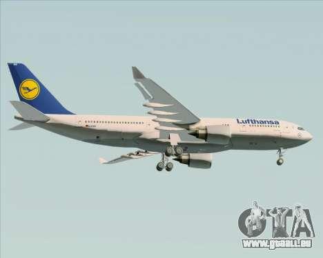 Airbus A330-200 Lufthansa für GTA San Andreas rechten Ansicht