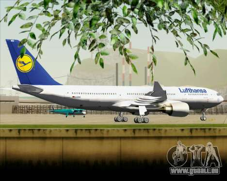 Airbus A330-200 Lufthansa für GTA San Andreas Rückansicht