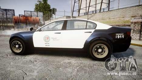 GTA V Cheval Fugitive LS Police [ELS] Slicktop für GTA 4 linke Ansicht
