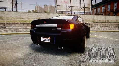 GTA V Cheval Fugitive Unmarked [ELS] Slicktop pour GTA 4 Vue arrière de la gauche
