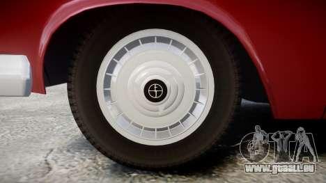 FSO Warszawa Ghia Kombi 1959 pour GTA 4 Vue arrière