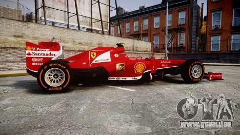 Ferrari F138 v2.0 [RIV] Massa THD für GTA 4 linke Ansicht