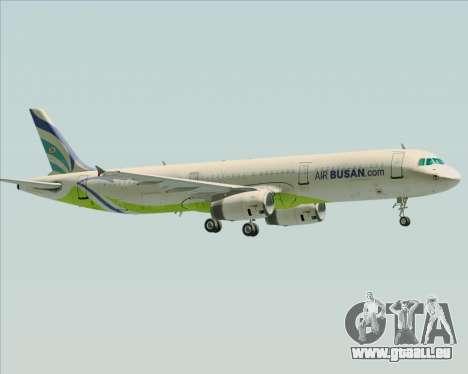 Airbus A321-200 Air Busan pour GTA San Andreas vue de dessous