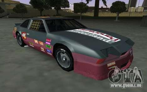 De nouveaux autocollants et non Hotring pour GTA San Andreas vue intérieure