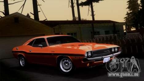 Dodge Challenger 426 Hemi (JS23) 1970 (ImVehFt) pour GTA San Andreas vue de côté