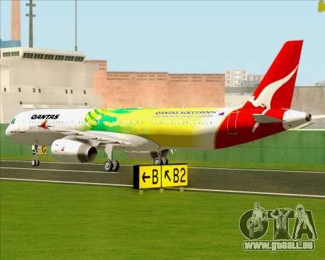 Airbus A321-200 Qantas (Socceroos Livery) für GTA San Andreas Rückansicht