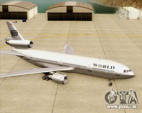 McDonnell Douglas DC-10-30 World Airways pour GTA San Andreas roue