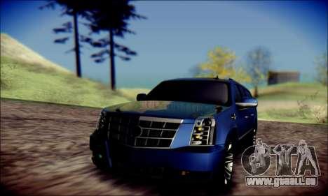 Cadillac Escalade Ninja für GTA San Andreas obere Ansicht