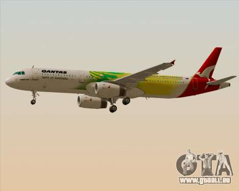 Airbus A321-200 Qantas (Socceroos Livery) pour GTA San Andreas vue intérieure