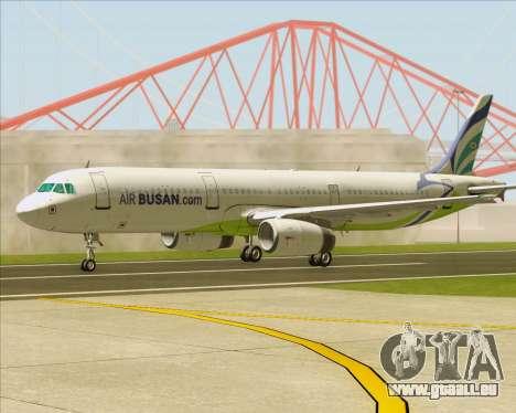 Airbus A321-200 Air Busan pour GTA San Andreas vue de côté