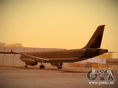 Airbus A321-232 Royal Jordanian Airlines für GTA San Andreas zurück linke Ansicht