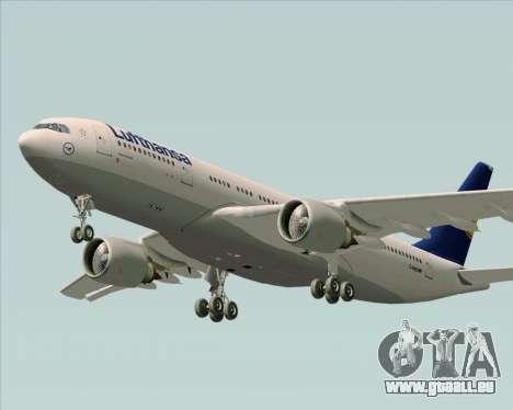 Airbus A330-200 Lufthansa für GTA San Andreas Innenansicht