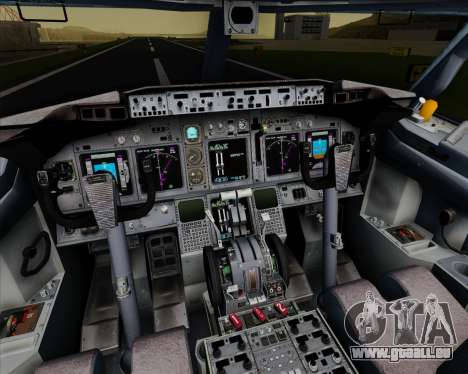 Boeing 737-800 Orbit Airlines pour GTA San Andreas salon
