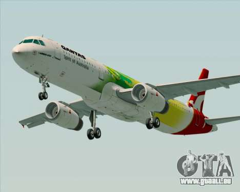 Airbus A321-200 Qantas (Socceroos Livery) für GTA San Andreas zurück linke Ansicht