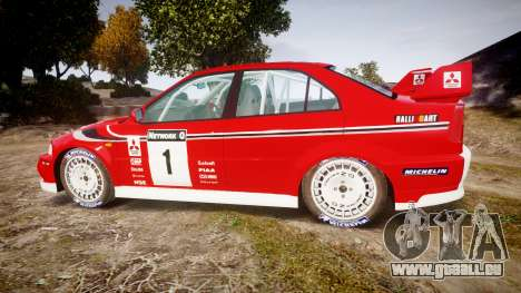 Mitsubishi Lancer Evolution VI 2000 Rally für GTA 4 linke Ansicht