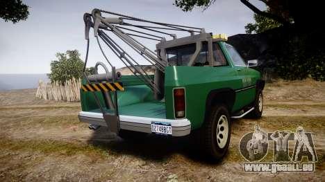 Declasse Rancher Towtruck [ELS] pour GTA 4 Vue arrière de la gauche