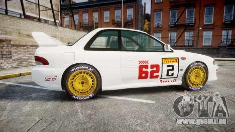Subaru Impreza WRC 1998 SA Competio pour GTA 4 est une gauche