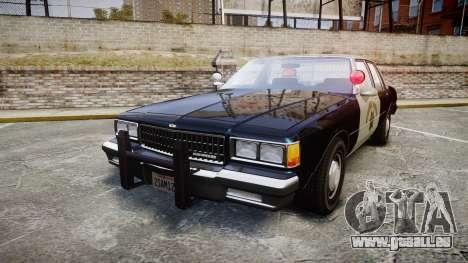Chevrolet Caprice 1986 Brougham Police [ELS] pour GTA 4